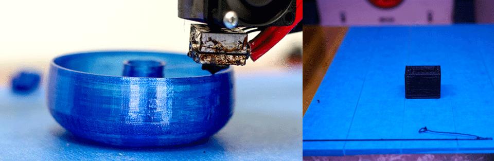 چسبیدن قطعه به سینی پرینتر سه بعدی