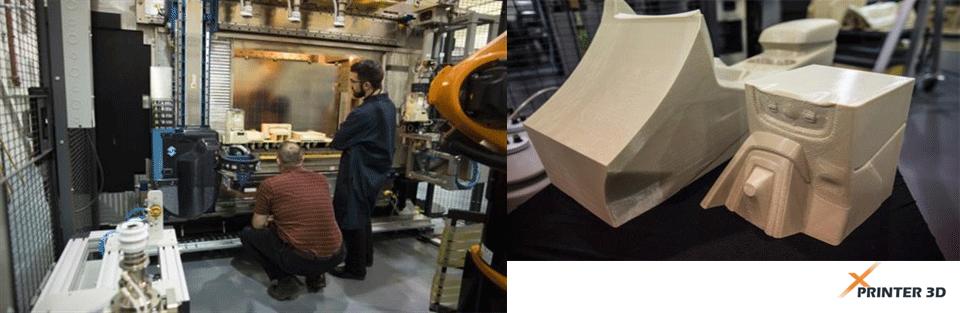 پرینت سه بعدی یکپارچه قطعات خودرو
