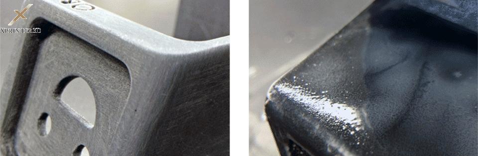 پولیش کردن قطعات پرینتر سه بعدیوپرداخت قطعه سه بعدیبا حلال