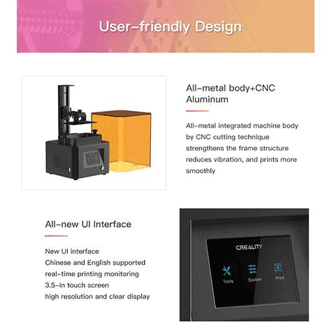 چاپگر سه بعدی ld002r رزینی تکنولوژی lLCD